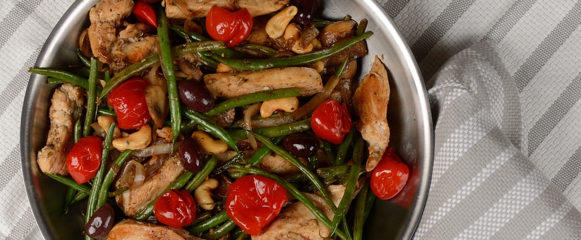 Balsamic Chicken with Veggies and Olives