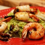 Shrimp with Basil Pesto Spaghetti Squash