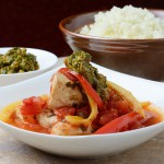 Chicken Tagine with Preserved Lemons and Walnut Chermoula