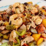 Grilled Tropical Shrimp and Chicken Salad