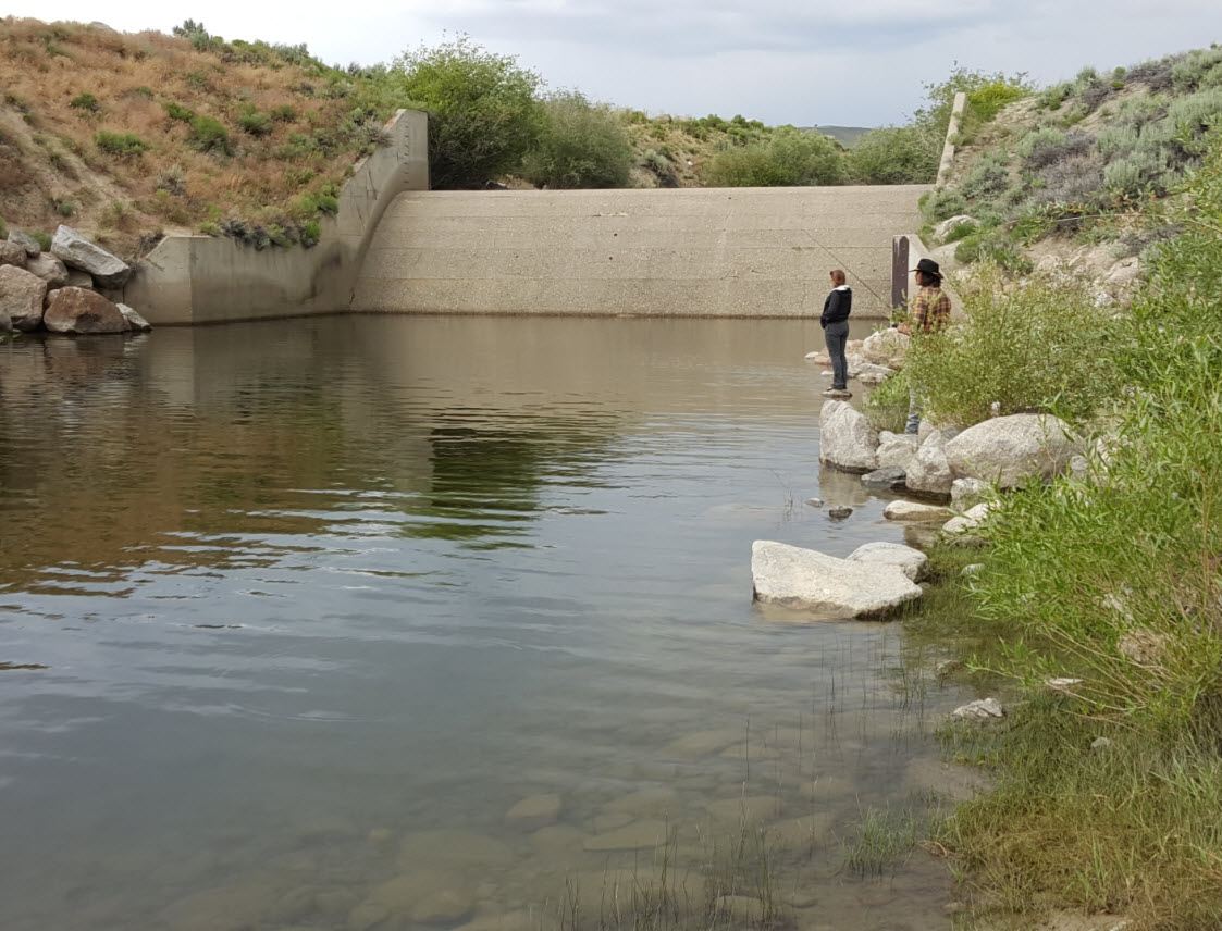 Fishing at Spillway